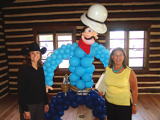 Balloon Cowboy with friends