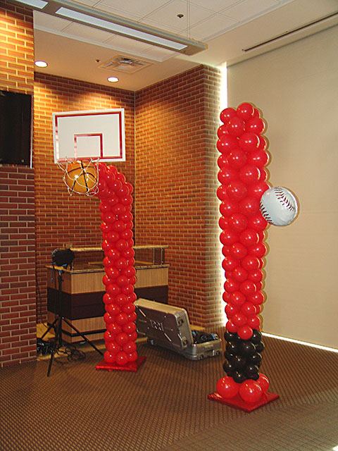 basketball and baseball balloon sculpture denver