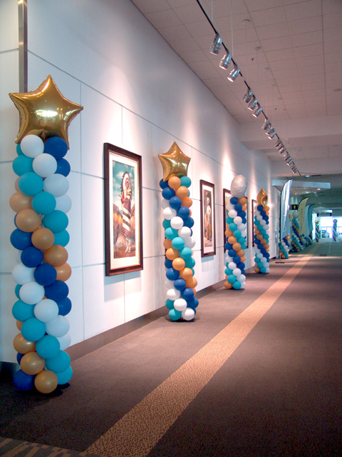 custom balloon columns pillars towers Denver Convention Center
